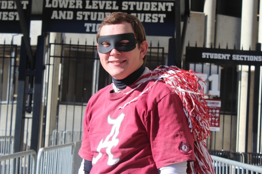Captain Crimson brings spirit to the Crimson Tide's home games